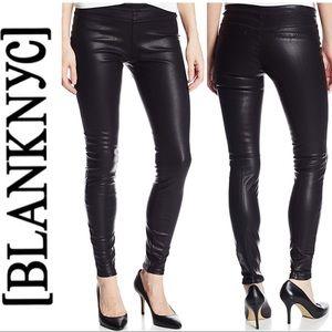 BLANK NYC Skinny Vegan leather Pussy Cat Leggings